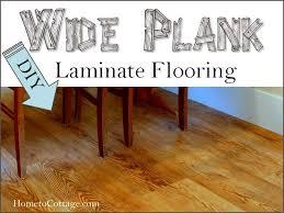 diy wide plank laminate flooring hometocottage