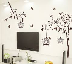 wall stickers pictures buy decals design tree with birds and cages wall sticker pvc