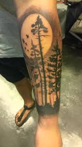 dark forest silhouette tattoo by pit fun youtube