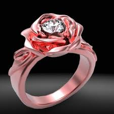 rose design rings images Buy a custom red rose diamond engagement ring made to order from jpg