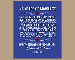 45 year anniversary gift 1st anniversary card 1st wedding anniversary card paper