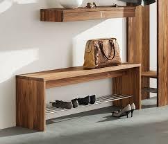 Hall Storage Cabinet Bedroom Hallway Bench Furniture Fabric Seat Wooden Shoe Storage
