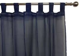 Sheer Navy Curtains Navy Voile Curtain Tab Top 120x213cm New