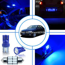 ebay motors lexus is300 11x dark deep pure blue led interior map light package kit for