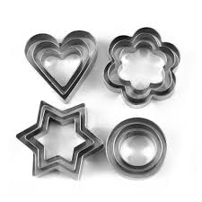 cookie cutters buy okayji stainless steel cookie cutter set 12 pieces silver