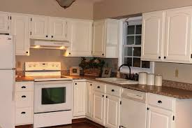 White With Brown Glaze Kitchen by Fresh White Glazed Kitchen Cabinets All Home Decorations