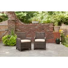 Patio Dining Chairs With Cushions Brown Northshore Patio Dining Chair With Harvest Cushions