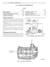 jeep ax15 service manual transmission manual transmission