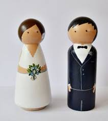 4 peg doll wedding cake toppers size 3 5