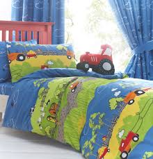 Childrens Cot Bed Duvet Sets Bedding Details About Farm Animals Tractor Duvet Cover Or