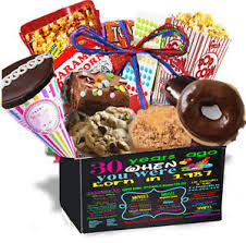 birthday gift basket 30th birthday gift basket box 30 pieces snack care package 1987