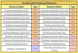 free pdf printable christmas worksheets