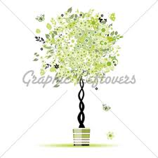 summer floral tree in pot for your design gl stock images