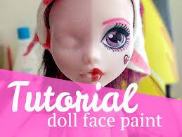 Face Paint Spray - tutorial doll face paint u2013 mj hsu art