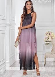 ombre dress ombre glitter dress in grey multi venus