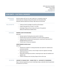 Engineering Resume Example Electrical Engineer Resume Samples Templates And Job Descriptions