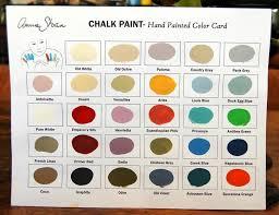 chalk paint colour chart