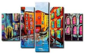 online shop hand painted color city of venice water town boat