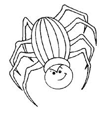 angry spider coloring netart
