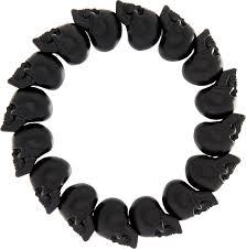 onyx skull bracelet images Alexander mcqueen skull bead bracelet for men in black for men jpeg