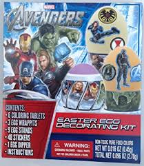Decorating Easter Eggs Superheroes by Amazon Com Marvel Avengers Easter Egg Decorating Kit Toys U0026 Games