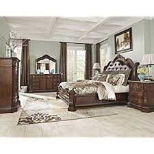 Amazoncom Ashley Ledelle B  Pc King Panel Bedroom Set In - North shore poster bedroom set price