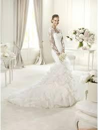 robe de mari e pronovias robe de mariée sirène dentelle traine organza boléro robe de