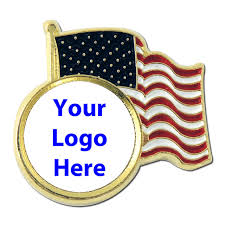 American Flag To Color Usa Flag With Your Logo In Full Color Proudly Made In Usa