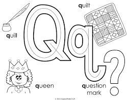 q coloring page youtuf com