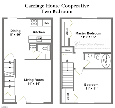 One Level Living Floor Plans Floor Plans Carriage House Cooperative