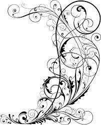 corner floral ornaments vector illustration vector floral