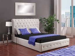 bedroom types of beds with tufted white headboard also laminate