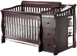 Convertible 4 In 1 Cribs Sorelle Princeton 4 In 1 Convertible Crib With Changer Espresso