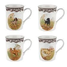 spode woodland 12oz mugs assorted dogs set of 4 spode usa