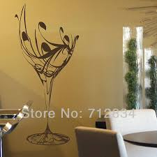 Wine Glass Wall Decor B Z D Free Shipping Wall U0027s Matter Home Decor Wine Glass Kitchen