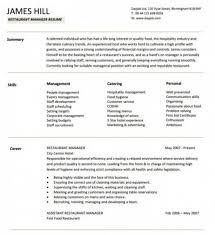 Hotel Management Resume Restaurant Manager Resume Template Restaurant Assistant Manager