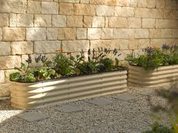 Greenes Fence Raised Beds by Modular Metal Trough Garden Bed Raised Bed Gardens And Stone