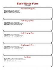 paragraph essay format outline Pinterest