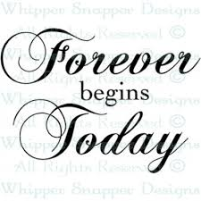 wedding quotes sayings forever begins today wedding sayings wedding rubber sts