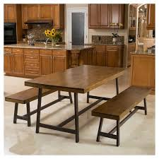Picnic Dining Room Table Marion 3 Foldable Picnic Dining Set Brown Oak Christopher