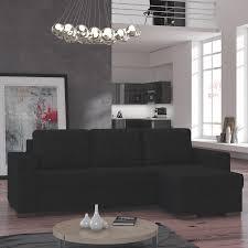 canap angle convertible noir meuble de salon canapé canapé d angle noir sofamobili