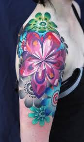 flower color tattoos designs tattoos