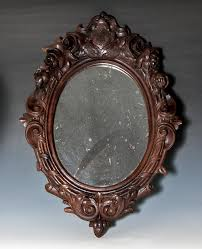 carved wood framed wall antique era carved wood black forest frame with