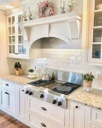 kitchens white cabinets venetian gold light granite with off white subway tile and off
