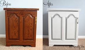 painting oak kitchen cabinets before and after sewing cabinet makeover painting furniture two twenty one