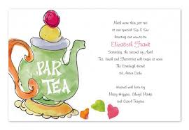 tea invitation wording tea invitation wording with
