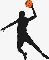 playing basketball silhouette figures play basketball character