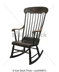 Rocking Chair Vintage Rocking Chair On A White Background Drawings Search