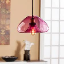 Colored Glass Pendant Lights Zara Colored Glass Pendant Lamp Southern Enterprises Inc Lt1847