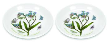 portmeirion botanic garden set of 2 coasters sweet dishes